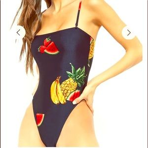 Forever 21 fruit swimsuit, removable straps S/M